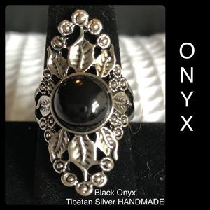 Black Onyx Handmade Boho Tibetan Silver Ethnic